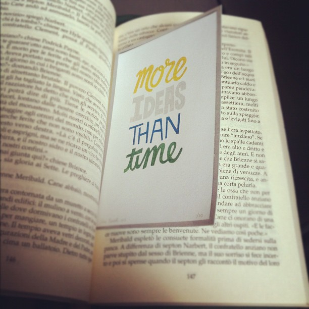 More ideas than time Instagram Viachesiva