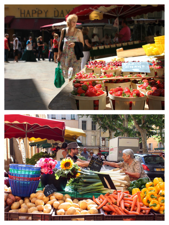 mercato frutta verdura fragole piazzetta aix-en-provence provenza