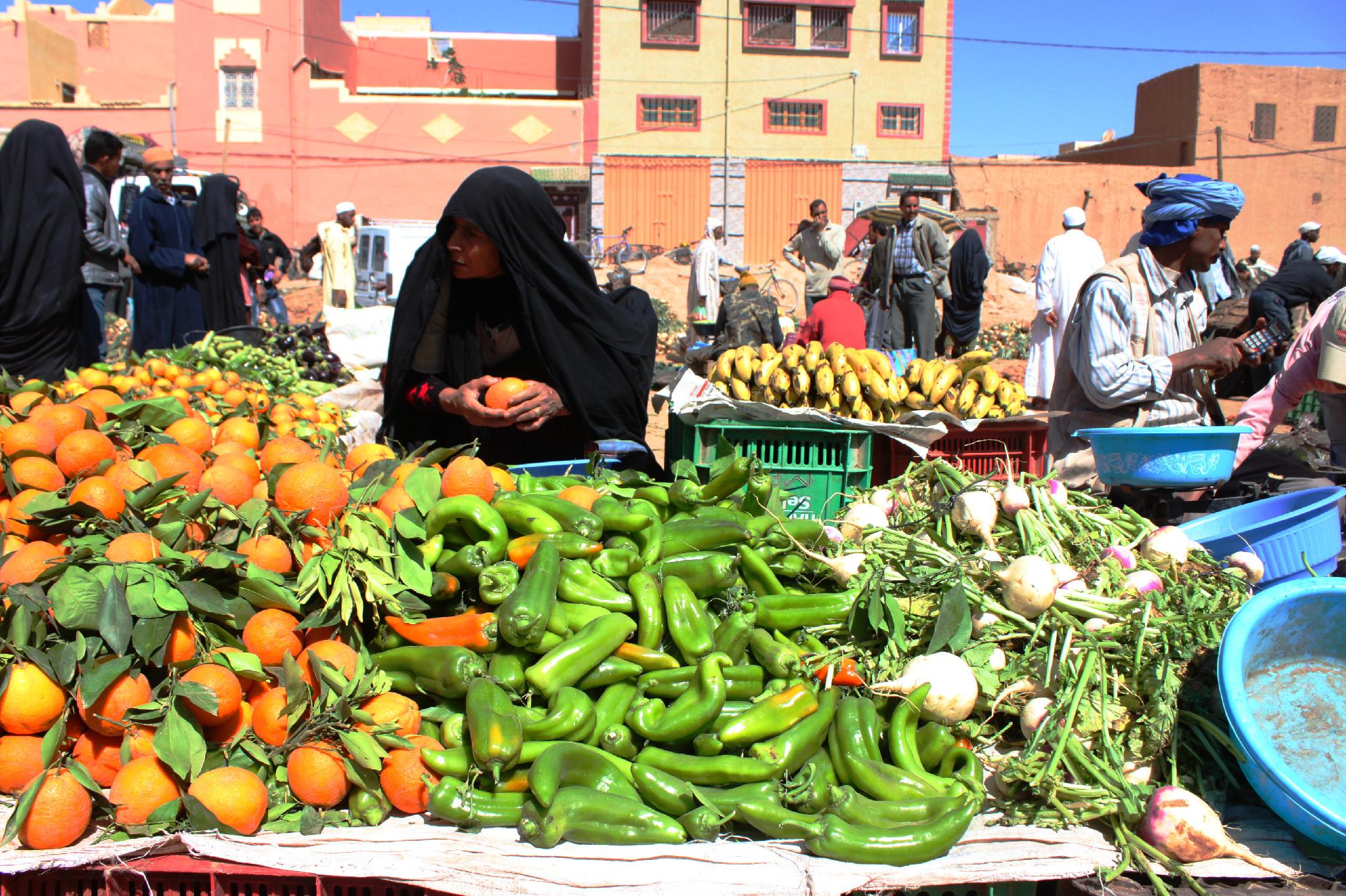 capture the colour contest - green - market in essaouira