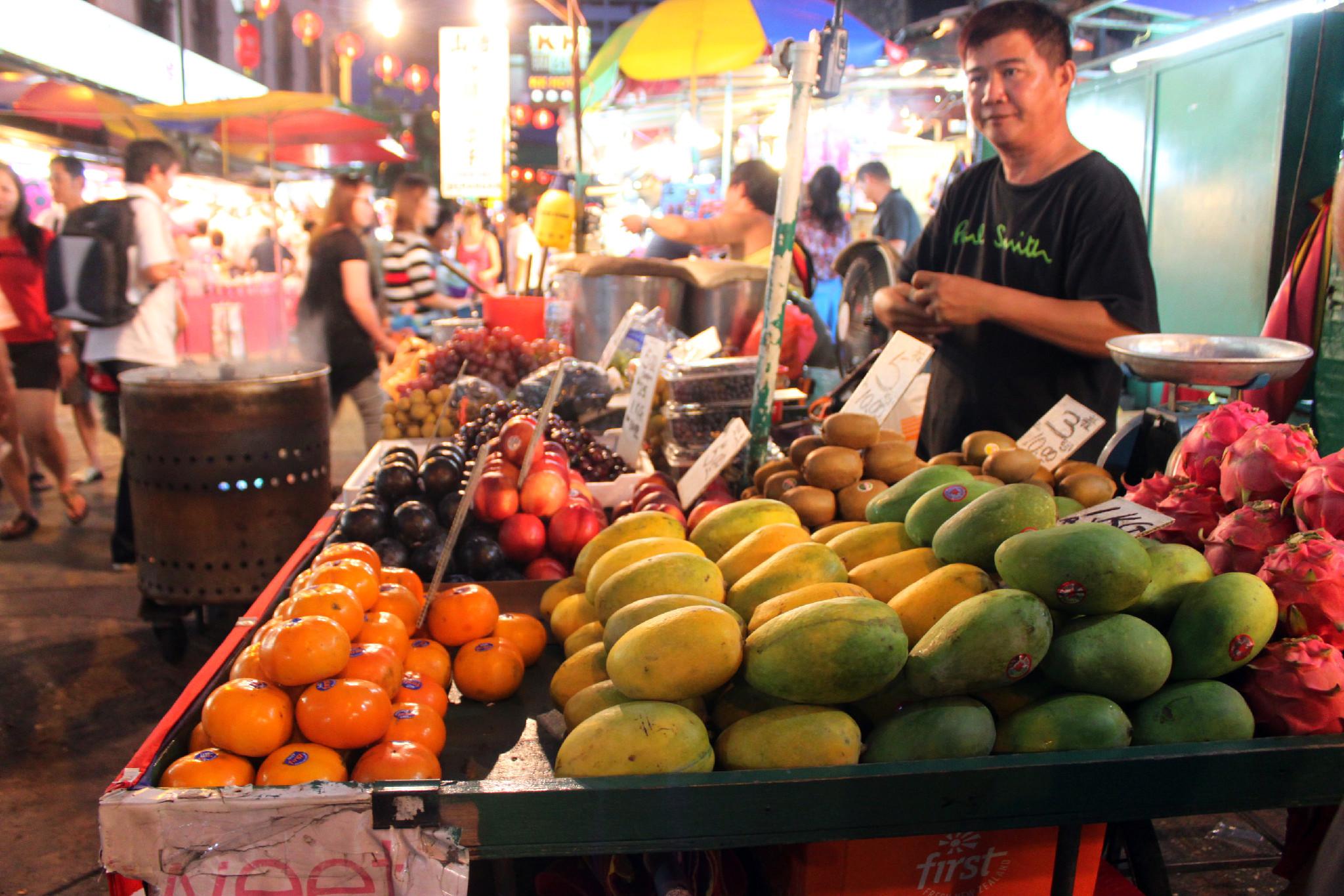 frutta al mercato, kuala lumpur, malesia