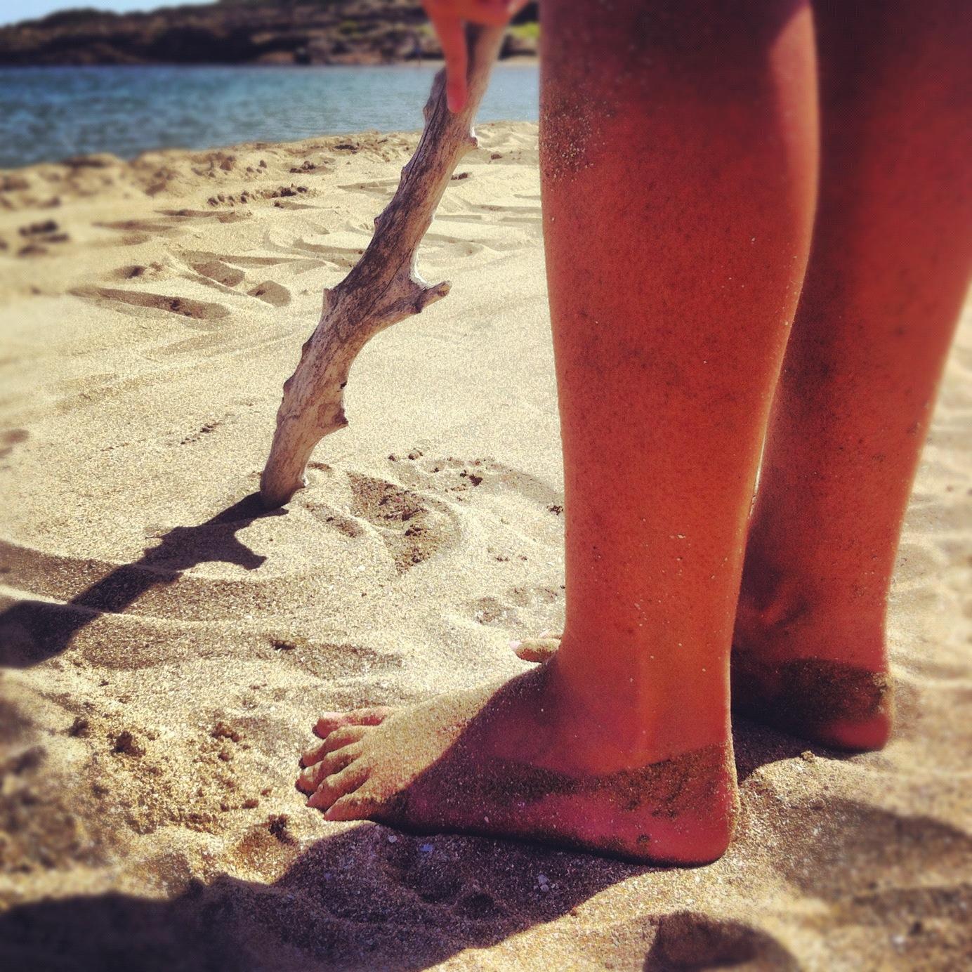messaggi sulla sabbia
